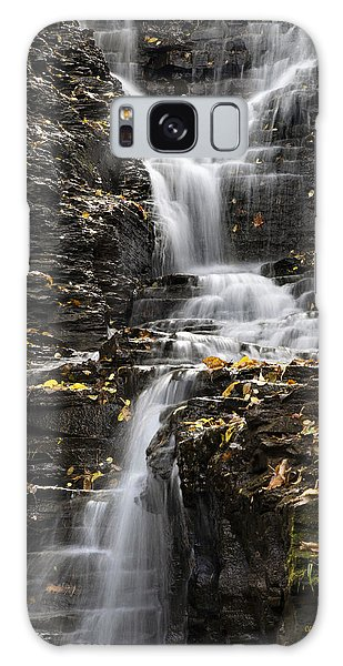 Winding Waterfall Galaxy Case by Christina Rollo