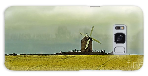 Windmill And Rapeseed And Storm Galaxy Case
