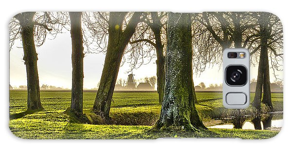 Windmill And Trees In Groningen Galaxy Case