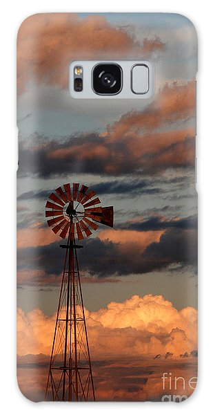 Windmill At Sunset V Galaxy Case