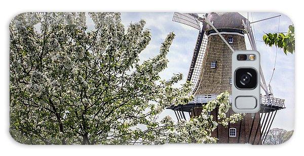 Windmill At Windmill Gardens Holland Galaxy Case