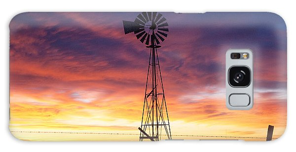 Windmill Dressed Up Galaxy Case by Shirley Heier