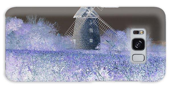 Windmill In A Purple Haze Galaxy Case by Linda Prewer