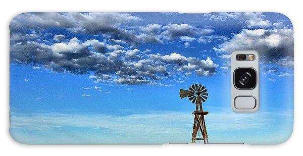 Windmill In Blue Galaxy Case by Steven Reed