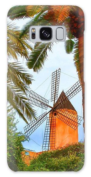 Windmill In Palma De Mallorca Galaxy Case