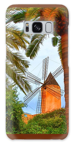 Galaxy Case featuring the painting Windmill In Palma De Mallorca by Deborah Boyd