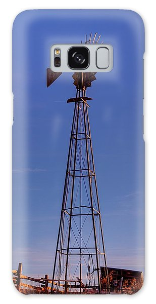 Windmill In The Fading Light Galaxy Case
