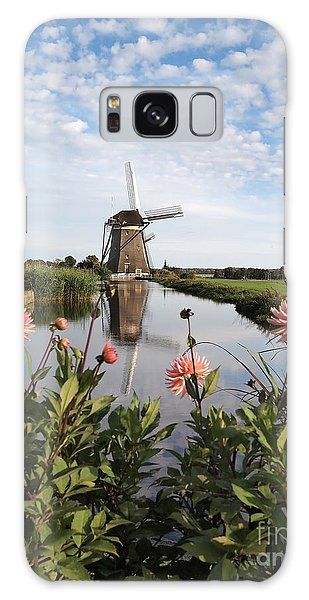 Windmill Landscape In Holland Galaxy Case