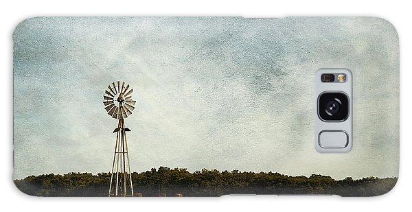Windmill On The Farm Galaxy Case