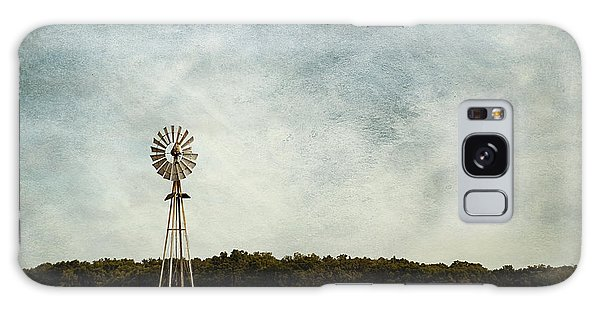 Windmill On The Farm Galaxy Case by Beverly Stapleton