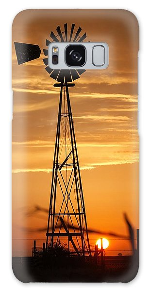 Windmill On The Prairie Galaxy Case