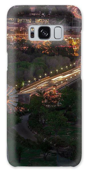 Windmill Over Niblick Bridge Galaxy Case