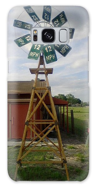 Windmill Speed Sign Posted Galaxy Case