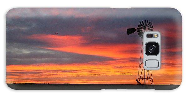 Windmill Sunrise Galaxy Case by Shirley Heier