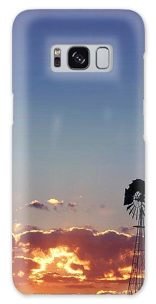 Windmill Sunset Galaxy Case