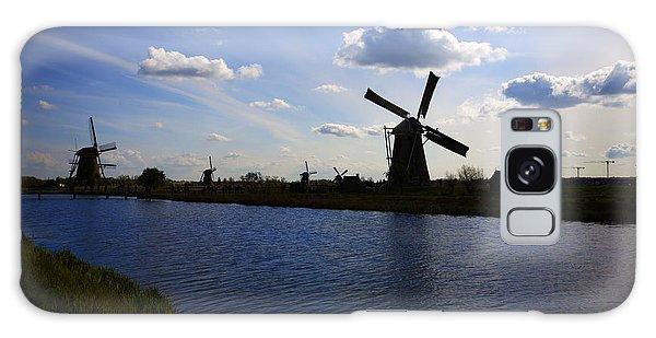 Windmills  At Twilight Galaxy Case