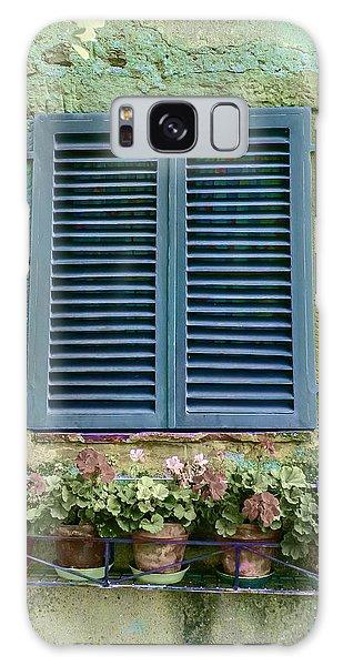 Window In Cortona - Texture Added Galaxy Case by Karen Stephenson