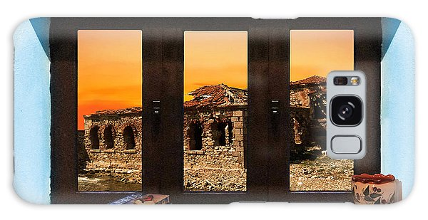 Window Into Greece 5 Galaxy Case by Eric Kempson
