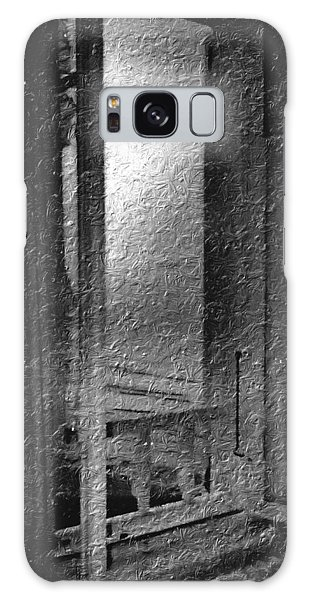 Window Ocean View Black And White Digital Painting Galaxy Case