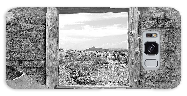 Window Onto Big Bend Desert Southwest Black And White Galaxy Case