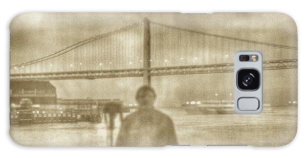window self-portrait Embarcadero San Francisco Galaxy Case