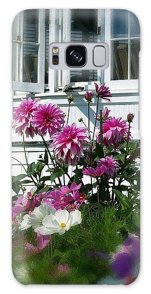 Windows And Flowers Galaxy Case by Randy Pollard