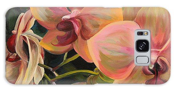 Windowsill Orchids Galaxy Case