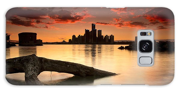 Motor City Galaxy Case - Windsor And Detroit Sunset by Cale Best