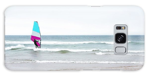 Windsurfer With Pink And Aqua Galaxy Case