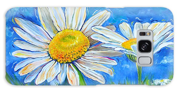 Windswept Daisies Galaxy Case