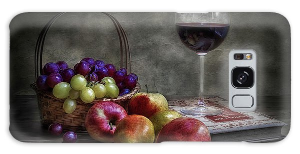 Basket Galaxy Case - Wine, Fruit And Reading. by Fran Osuna