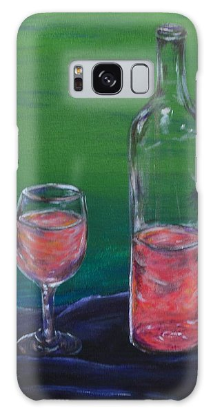 Wine Glass And Bottle Galaxy Case