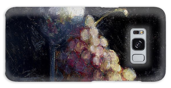 Wine Glass And Grapes Galaxy Case