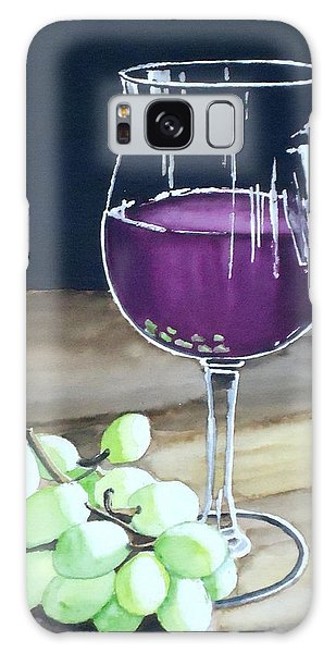 Wine Glass With Grapes Galaxy Case