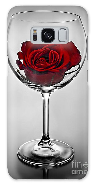 Wine Glass With Rose Galaxy Case