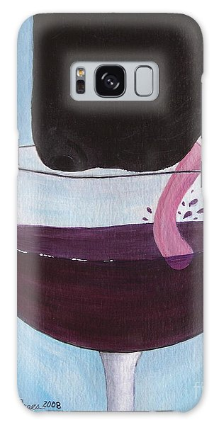 Wine Is Best Shared With Friends - Black Dog Galaxy Case