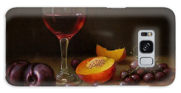 Wine Peach And Plums Galaxy Case