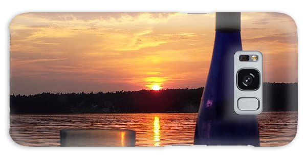 Wine Water Sunset Galaxy Case by Cindy Croal