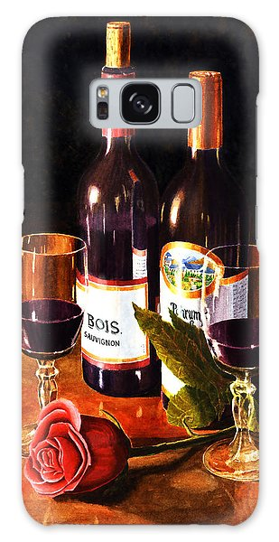 Wine With Rose Galaxy Case