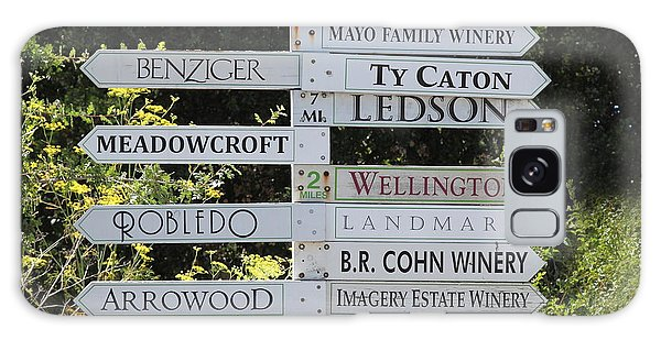 Winery Street Sign In The Sonoma California Wine Country 5d24601 Square Galaxy Case