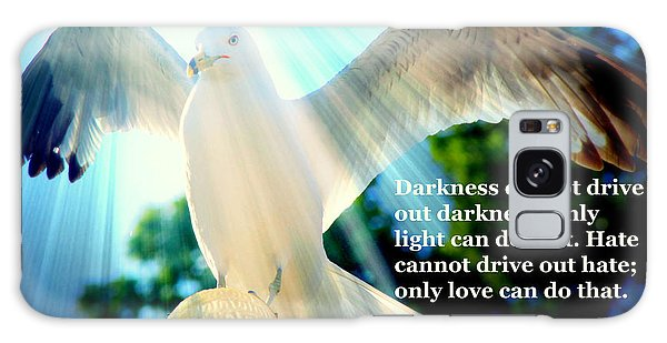 Wings Of Freedom Illuminated With Martin Luther King Jr. Quote II Galaxy Case
