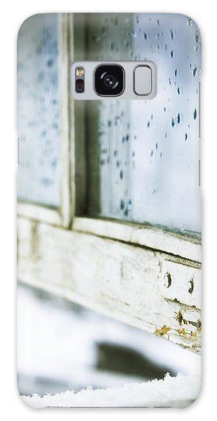 Wintage Wooden Window Closeup Galaxy Case