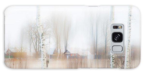 Russian Impressionism Galaxy Case - Winter Aquarel. Russia by Jenny Rainbow