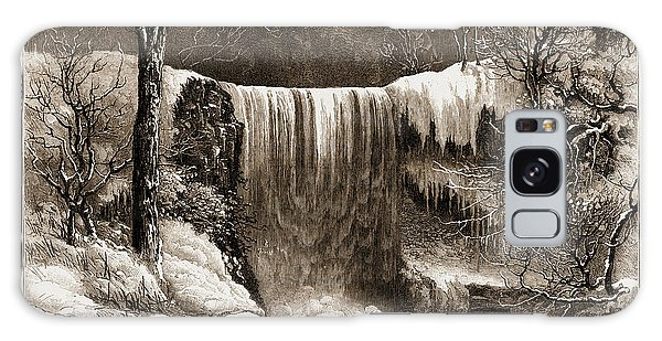Aspect Galaxy Case - Winter Aspect Of The Falls Of Minnehaha, Minnesota by Litz Collection