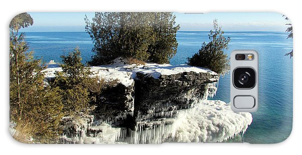 Winter At Cave Point Galaxy Case