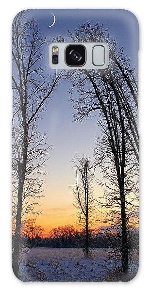 Winter At Dusk Galaxy Case by Randy Pollard