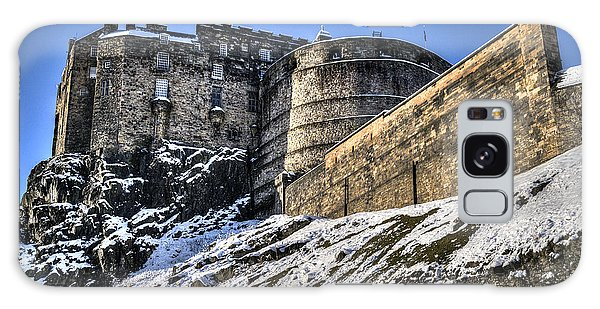 Winter At Edinburgh Castle Galaxy Case
