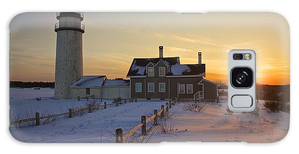 Winter At Highland Lighthouse Galaxy Case