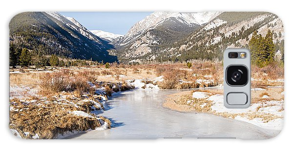 Winter At Horseshoe Park In Rocky Mountain National Park Galaxy Case
