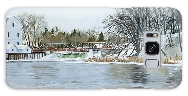 Winter At Phelps Mill Galaxy Case